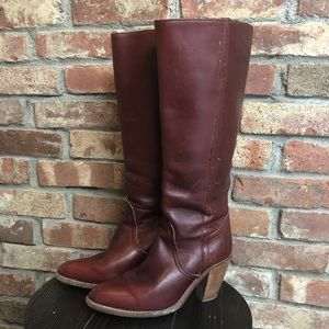 Vintage 1970's Frye Boots Oxblood Red size 7
